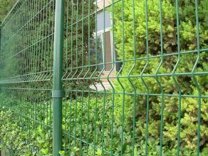 Recubierto de PVC verde jardín cercas eléctricas soldada de acero galvanizado