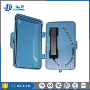 Aluminiumlegierung-feuchtigkeitsbeständiges industrielles VoIP Hotlines-Telefon, wetterfestes SIP-Telefon