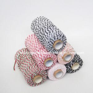 Coton coloré du tiroir de commande de la ficelle de coton Baker Cordon dans 3 plis
