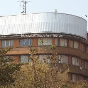 Edificio con techo al aire libre de publicidad de Prisma Tri-Vision curvo de la estructura de vallas en el Congo