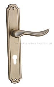 Alavanca de travamento da porta de madeira liga de zinco a Alavanca de Trava da Alavanca da Porta de privacidade no prato