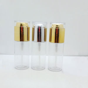 高品質50mlプラスチックPETGの装飾的な表面ローションのクリームのびん