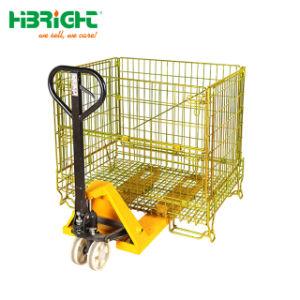 Palettes de stockage de l'entrepôt de Wire Mesh Cage de sécurité repliable conteneur en acier