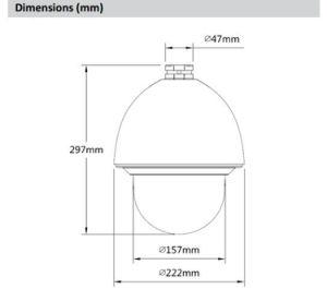 De Digitale Videocamera van kabeltelevisie Hdcvi van het Sterrelicht PTZ van Dahua 2MP (sd60230i-HC)
