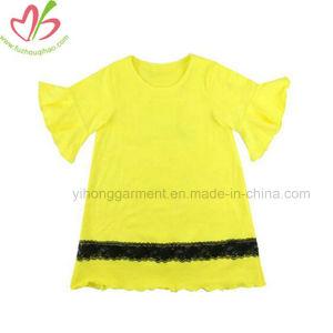 Vestuário para bebé vestuário infantil vestido de menina Ruffle macio de algodão