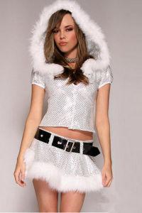 Commerce de gros Sequin Santa costume pour les femmes