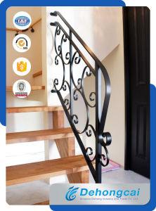 屋内階段鋼鉄塀/電流を通された錬鉄のステアケースの柵の手すり