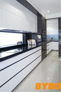 Het moderne Hoge Glanzende Witte Meubilair van de Keuken van de Lak (door-l-109)
