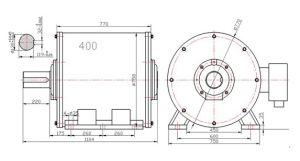 80квт 60об/мин малой скорости горизонтального генератор постоянного магнита
