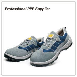 Transpirable Cuero auténtico de la luz de Verano Zapatos de seguridad