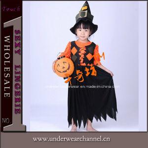 Commerce de gros d'enfants Partie robe de citrouille Halloween Costume (0033)