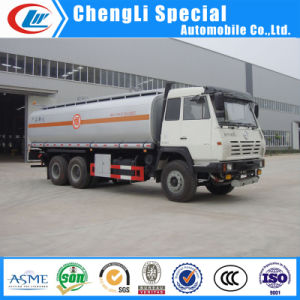 Shacman 6X4 22000liters粗野なボックス輸送の石油タンカーヴァンTruck
