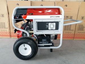 Hochleistungstreibstoff-Generator des benzin-7.5kw mit großen pneumatischen Rädern 2X und Griff, mit Fernstart