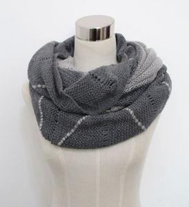 Fashion Acrylic Mohair Knitted女性覆いのスカーフYky4382)