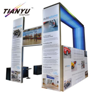 Profil en aluminium et le tissu des graphiques pour stand stand de foire commerciale