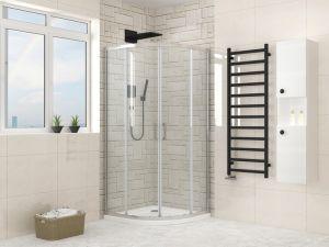 Perfil de alumínio do quadrante de cabina de duche com vidro temperado 6 mm