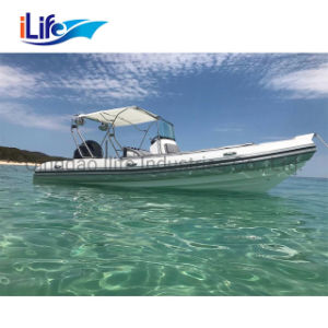 Ilife 22FT PVC/Coque en fibre de verre rigide gonflable Hypalon Rib Bateau de pêche avec la certification CE
