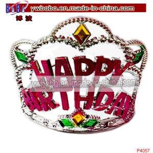 Cumpleaños de la corona de plástico de la decoración del cabello pelo Tiara joyas (P4057)