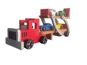 Giocattolo di legno del camion dell'elemento portante di automobile con 4 automobili di PCS per i bambini