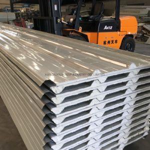 20mm techo panel sándwich de poliuretano con la parte inferior del papel de PVC