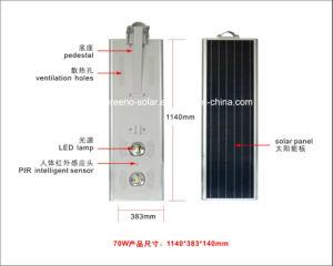 高い内腔統合された太陽LEDの街灯