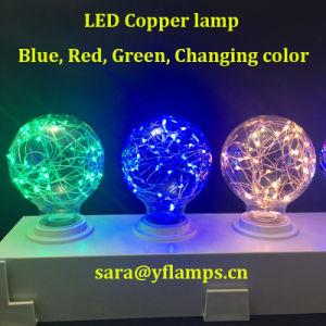 Fio de cobre a lâmpada LED coloridos e27 G125, G95, G80 Lâmpada Estrela