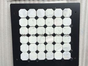 Tegels van het Mozaïek van Carrara van Bianco de Witte Marmeren voor Keuken Backsplash & Badkamers
