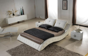 Luxury madeira moderno mobiliário de estilo de tamanho King Bed (HC310)