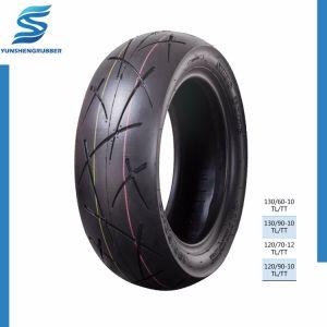 Excellente performance de roulement des pneus de moto cordiale 3.25-18 noir
