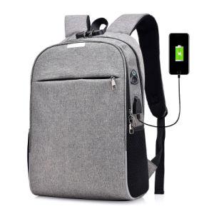 De viaje impermeable inteligente antirrobo reflectante 15.6 pulgadas con un cargador USB bolsa para portátil