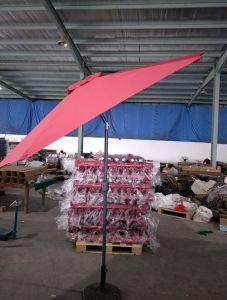 2,7 m de la plage d'aluminium extérieur Parasol Parasol Sun Patio Jardin droites