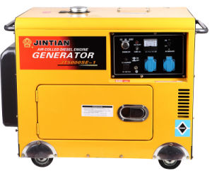 Generatore diesel raffreddato aria con il disegno facile da usare (Jt5000se-1)