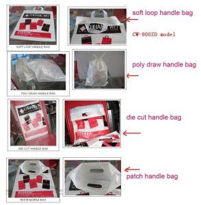 De plástico totalmente automática máquina de hacer un bolso de mano (una máquina cuatro funciones)