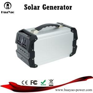 Outdoor gerador de energia de Lítio portátil de emergência do Sistema Solar Gerador Inversor de 400 W
