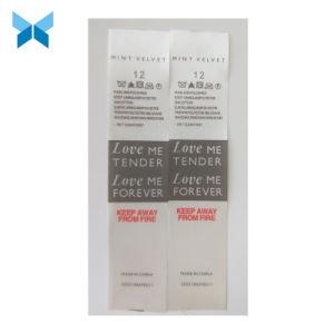 Impreso de poliéster con corte láser multicolor Accesorios de ropa de etiqueta impresa