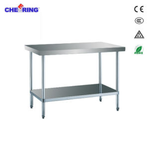 Comercial aclamando el montaje de acero inoxidable mesa de trabajo ...