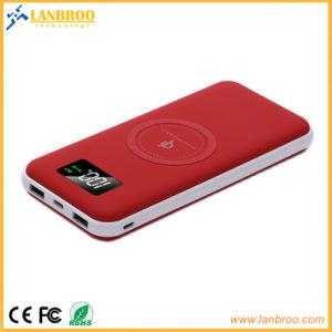10000mAh Powerbank inalámbrico con dos puertos USB y pantalla LCD/OEM Fabricante mayorista