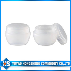 30ml White Round Empty Clear Cosmetic Plastic Spice Jar