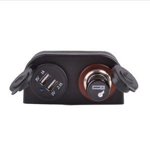 Marina Divisor Coche Mechero adaptador de corriente cargador USB+Sockets