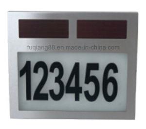 Fq-526 Casa Solar LED de luz de los números de placas de Energía Solar