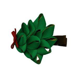 Árvore de Natal de Fita Grosgrain Grampo de cabelo Arco