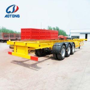 Behälter-halb Schlussteil-/Behälter-Chassis-LKW-Schlussteil der Aotong Marken-20FT/40FT skelettartiger
