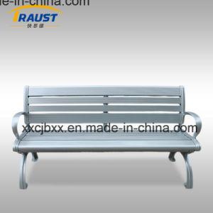 鋳造アルミの足を搭載する屋外の家具の庭のベンチのアルミニウムベンチ