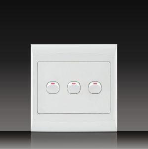 África do Sul Material de PC só 16A 250V Botão Tomada do interruptor de parede Elétrica 4*4 (S120B14-1)