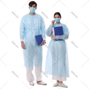 O nível de suprimentos descartáveis não tecidos 1 2 3 Protecção Médica esterilizado cirúrgica por grosso vestido azul vestido de isolamento para o Hospital Cirúrgico