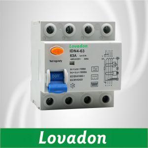 Tipo de Idn Air Disjuntor partes 4p 63um disjuntor automático de Corrente Residual Disjuntor