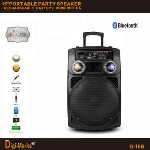 Mini altoparlante di Ce/FCC/UL di karaoke del carrello attivo ad alta fedeltà esterno redditizio della batteria