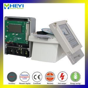 Одна фаза ЖК-дисплей IC электронной карточки в эксплуатацию электронного ваттметра предоплаты