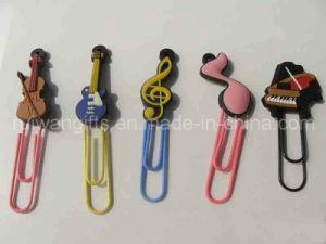 Musik Style 3D PVC Rubber Bookmark