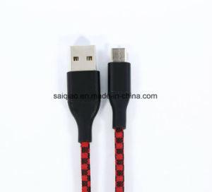 Doppelte Farbe USB-Type-C2.0, die geflochtenes aufladendaten-Kabel mischt